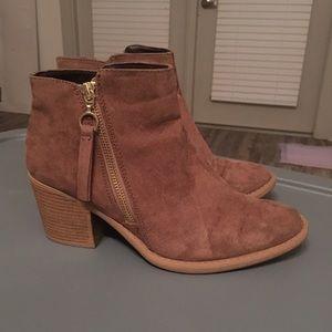 Qupid brown ankle booties